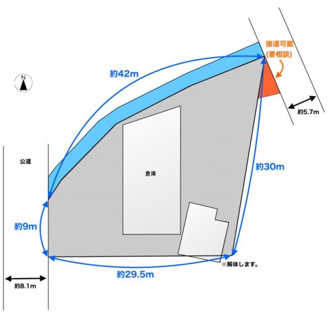 敷地図(地図)