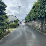 敷地から私道を撮影。