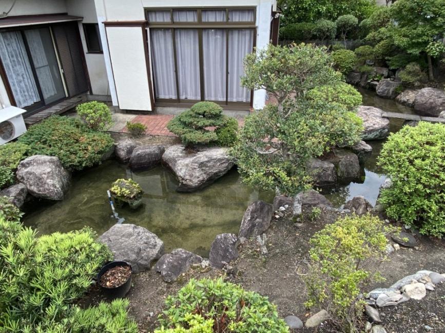 池つきのお住まいはあまりありません。魚や水生植物を飼育してみませんか?