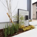 玄関前の植物は季節の移り変わりを楽しめます!(外観)
